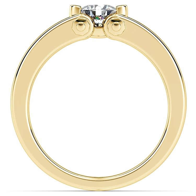 Perses Solitaire Mangagement™ Ring in Yellow Gold (1/2 ctw) | 02