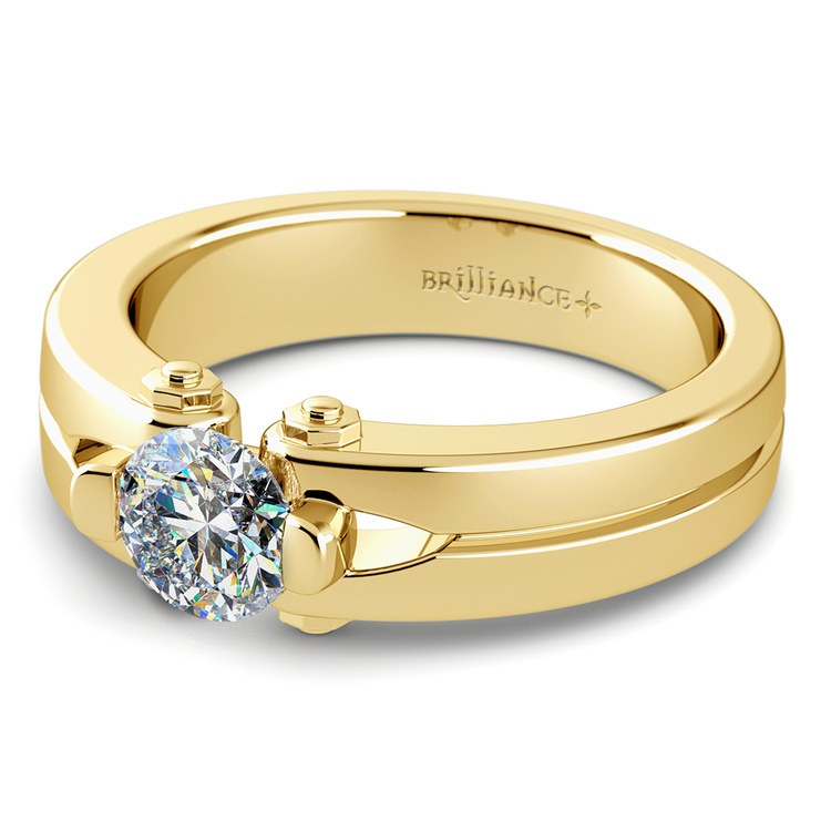 Perses Solitaire Mangagement™ Ring in Yellow Gold (1/2 ctw) | 04