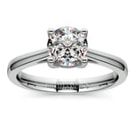 Petite Cathedral Solitaire Engagement Ring in Platinum | Thumbnail 01