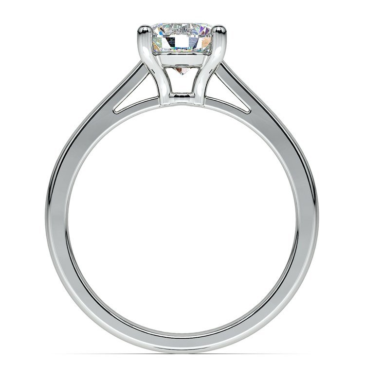 Petite Cathedral Solitaire Engagement Ring in Platinum | 02