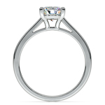 Petite Cathedral Solitaire Engagement Ring in White Gold | Thumbnail 02