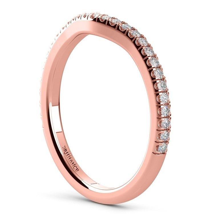 Petite Halo Rose Gold Diamond Bridal Set | 05