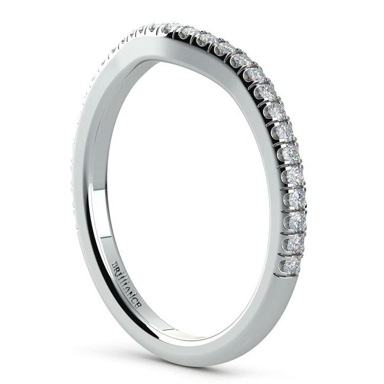 Petite Halo Diamond Bridal Set In White Gold | 05