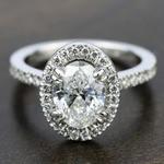 Petite Halo Diamond Engagement Ring in Platinum | Thumbnail 05