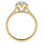 Petite Halo Diamond Engagement Ring in Yellow Gold | Thumbnail 02