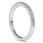 Petite Pave Diamond Bridal Set in Platinum   Thumbnail 05