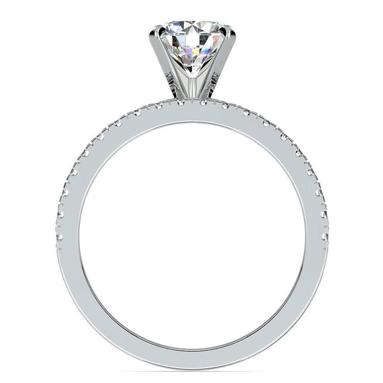 Petite Pave Diamond Bridal Set in Platinum   02