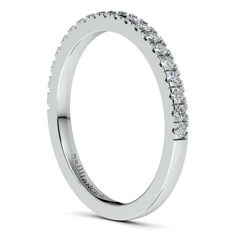 Petite Pave Diamond Bridal Set in White Gold   05