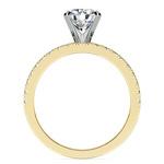 Petite Pave Diamond Bridal Set in Yellow Gold | Thumbnail 02