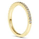 Petite Pave Diamond Bridal Set in Yellow Gold | Thumbnail 05