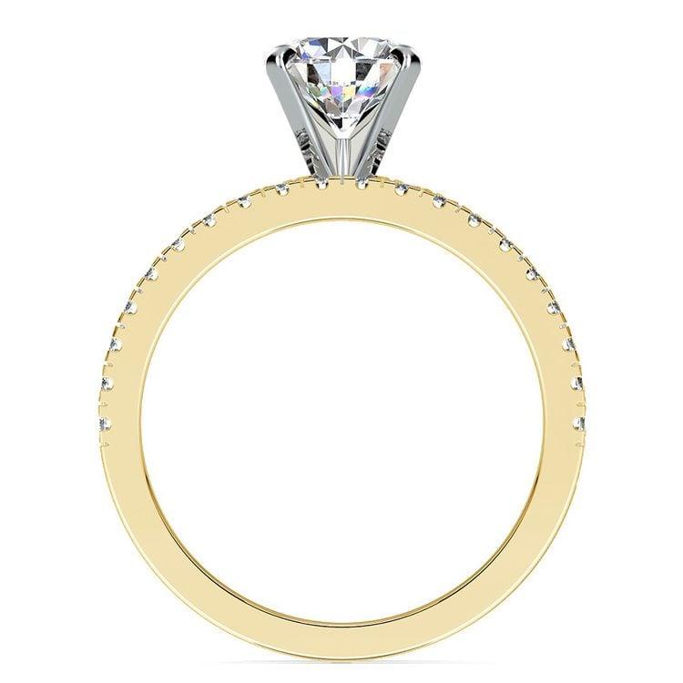 Petite Pave Diamond Bridal Set in Yellow Gold | 02