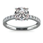 Petite Pave Diamond Engagement Ring in Palladium (1/3 ctw) | Thumbnail 01