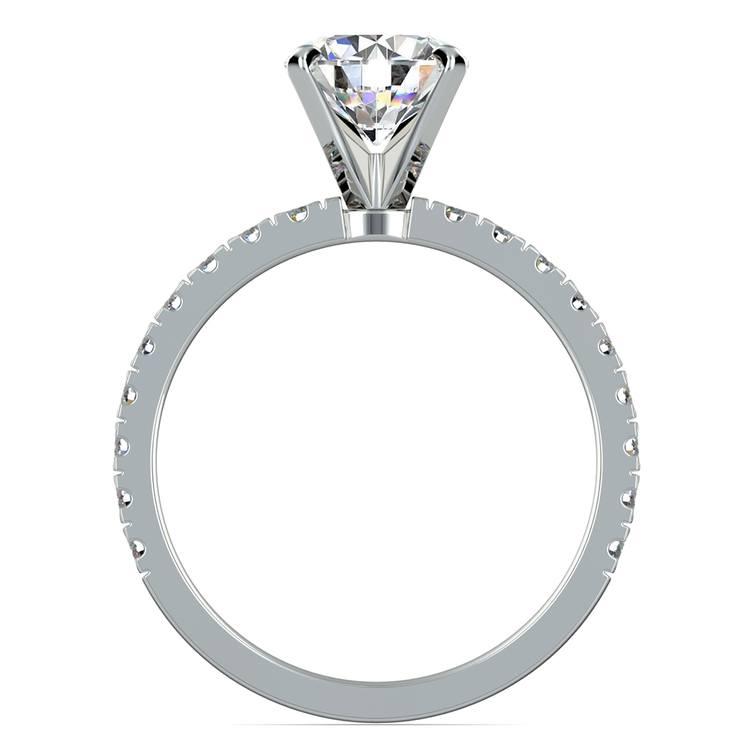 Petite Pave Diamond Engagement Ring in Platinum (1/3 ctw)   02