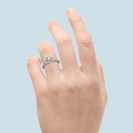 Petite Pave Diamond Engagement Ring in White Gold (1/3 ctw) | Thumbnail 06