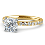 Petite Pave Diamond Engagement Ring in Yellow Gold (1/3 ctw) | Thumbnail 04