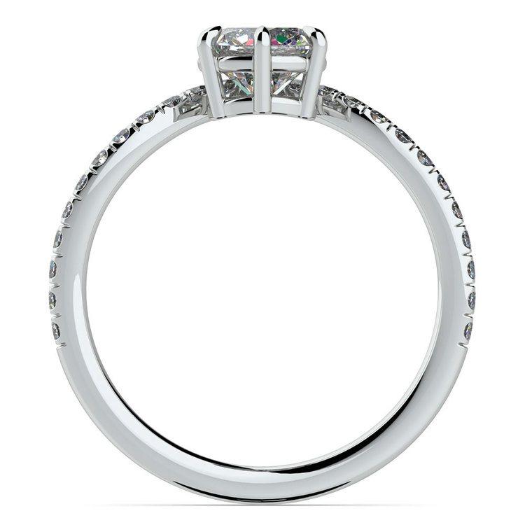 Platinum Chevron Diamond Engagement Ring | 02
