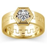 Pollux Solitaire Mangagement™ Ring in Yellow Gold (1 ctw) | Thumbnail 02