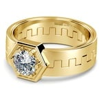 Pollux Solitaire Mangagement™ Ring in Yellow Gold (1 ctw) | Thumbnail 01