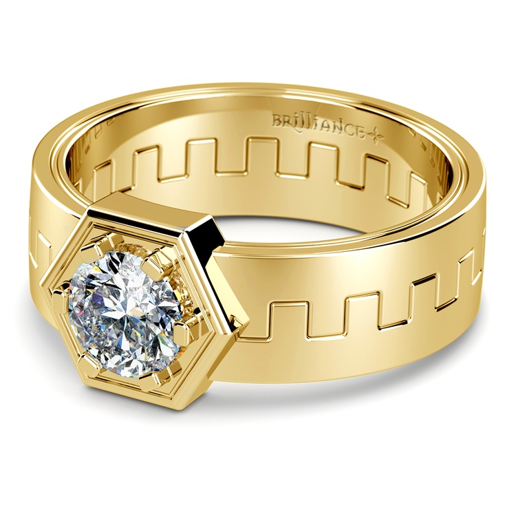 Pollux Solitaire Mangagement™ Ring in Yellow Gold (1 ctw) | 01