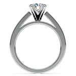 Princess Channel Diamond Engagement Ring in White Gold (1 ctw) | Thumbnail 02