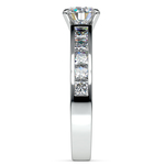 Princess Channel Diamond Engagement Ring in White Gold (1 ctw) | Thumbnail 03