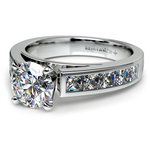 Princess Channel Diamond Engagement Ring in White Gold (1 ctw) | Thumbnail 04