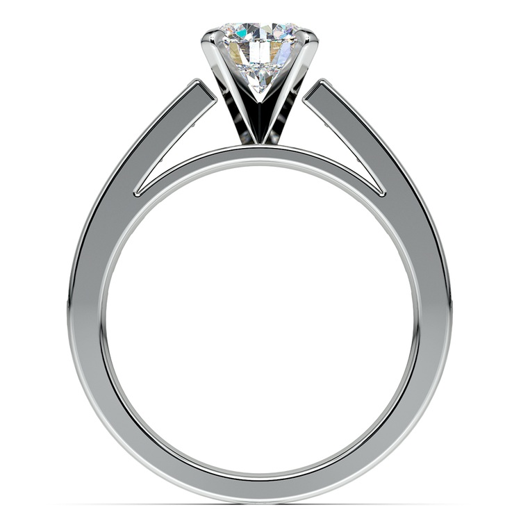 Princess Channel Diamond Engagement Ring in White Gold (1 ctw) | 02