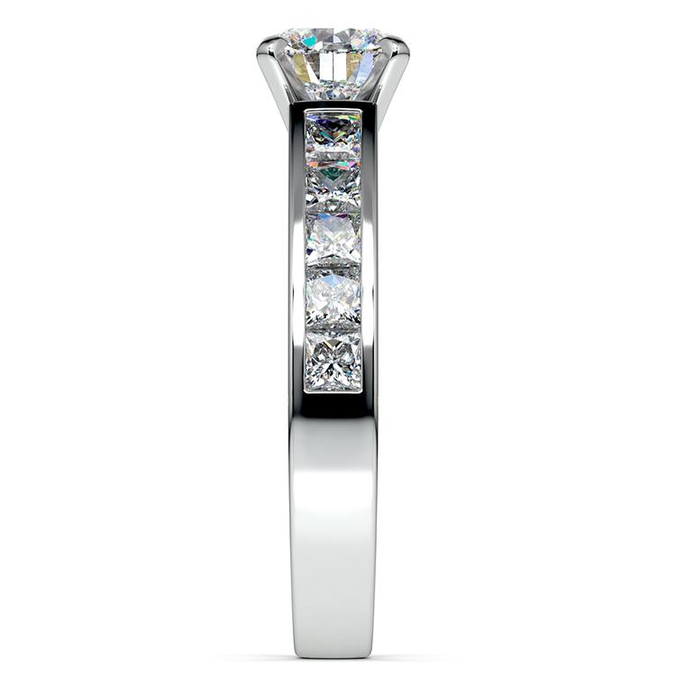 Princess Channel Diamond Engagement Ring in White Gold (1 ctw) | 03