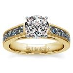 Princess Channel Diamond Engagement Ring in Yellow Gold (1 ctw) | Thumbnail 01