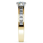 Princess Channel Diamond Engagement Ring in Yellow Gold (1 ctw) | Thumbnail 03