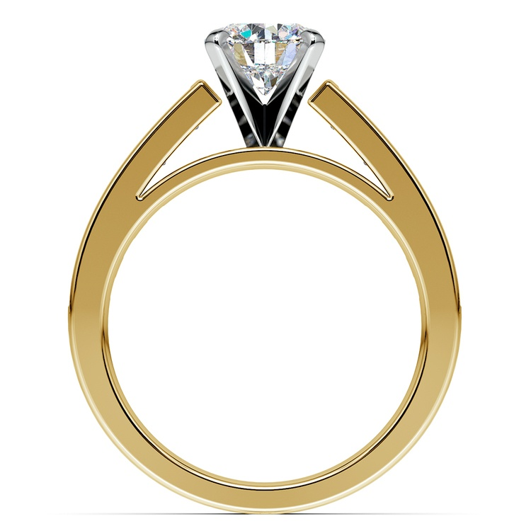Princess Channel Diamond Engagement Ring in Yellow Gold (1 ctw) | 02