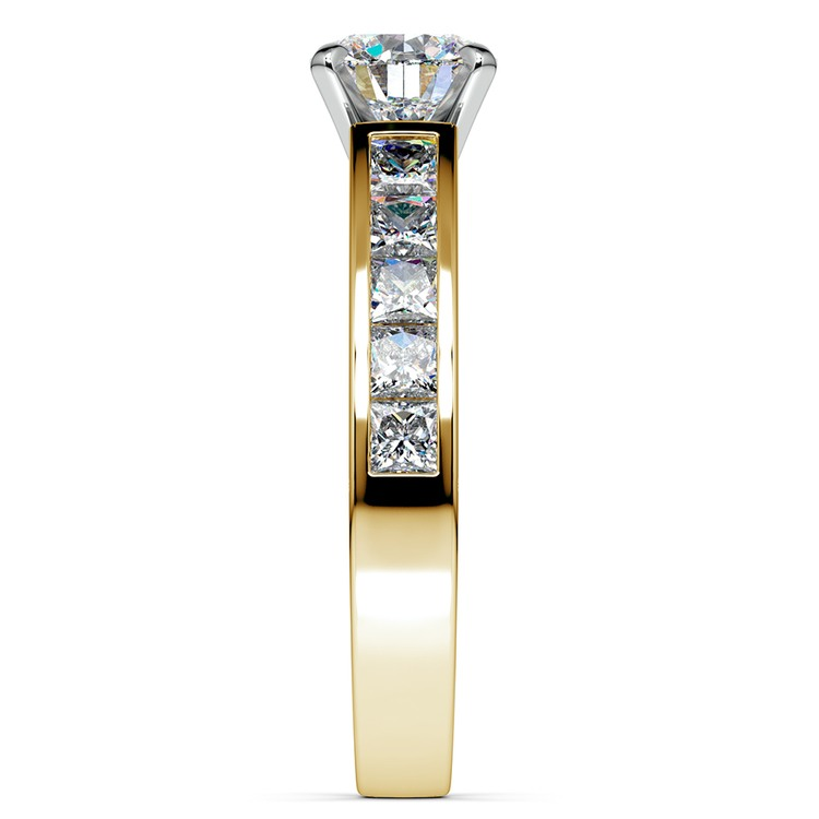 Princess Channel Diamond Engagement Ring in Yellow Gold (1 ctw) | 03