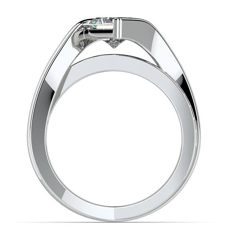 Princess Cut Bezel Set Engagement Ring (1 Carat) | 04
