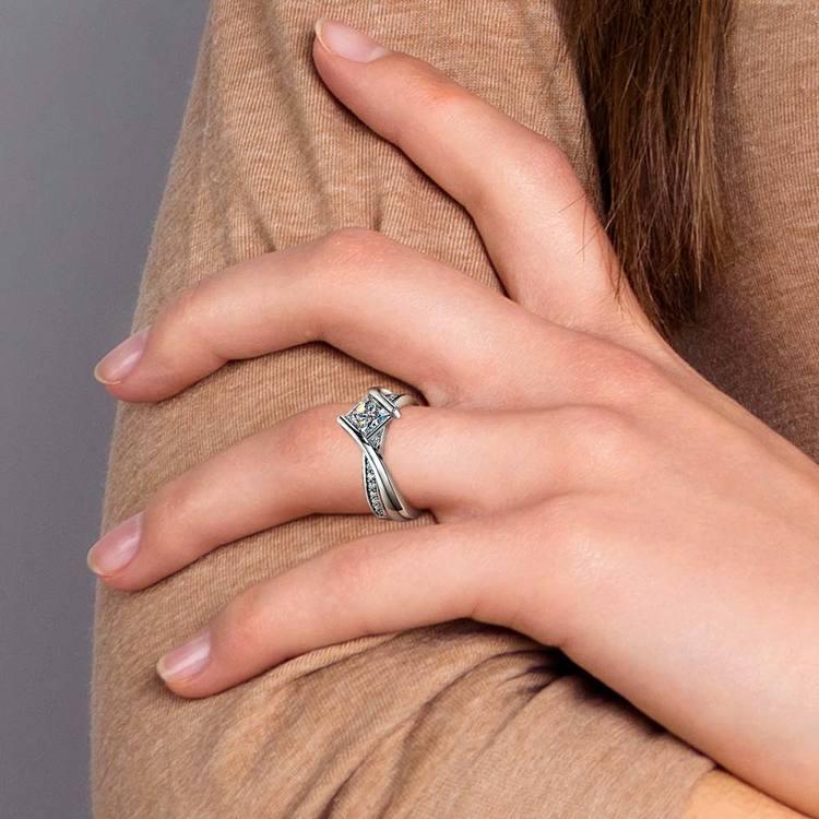 Princess Cut Bezel Set Engagement Ring (1 Carat) | 06