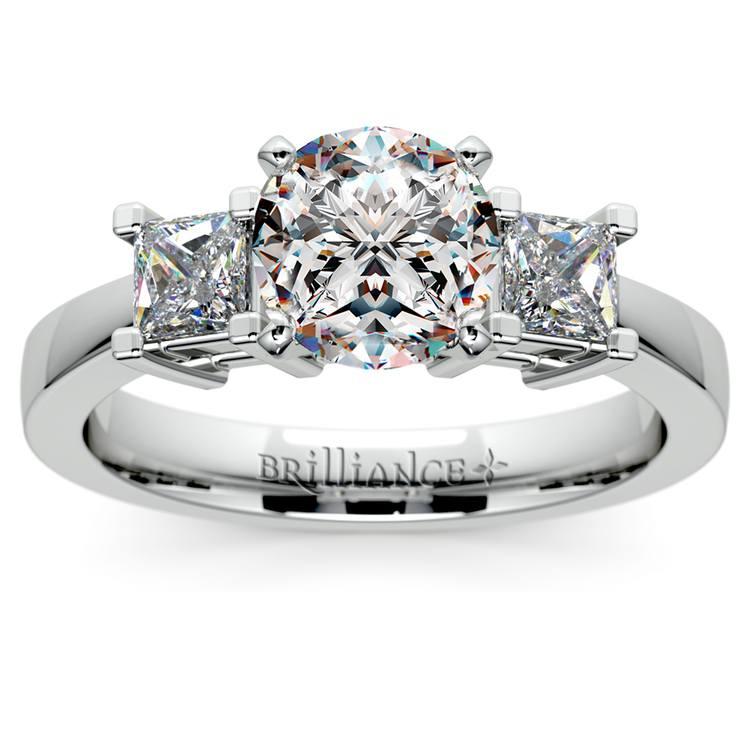 Princess Diamond Engagement Ring in Platinum (1/3 ctw) | 01