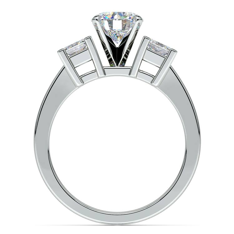 Princess Diamond Engagement Ring in Platinum (1/3 ctw) | 02