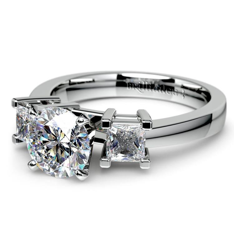 Princess Diamond Engagement Ring in Platinum (1/3 ctw) | 04