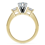 Princess Diamond Engagement Ring in Yellow Gold (1/2 ctw) | Thumbnail 02
