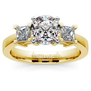 Princess Diamond Engagement Ring in Yellow Gold (1/2 ctw)