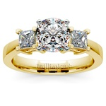 Princess Diamond Engagement Ring in Yellow Gold (1/3 ctw) | Thumbnail 01