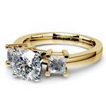 Princess Diamond Engagement Ring in Yellow Gold (1/3 ctw) | Thumbnail 04