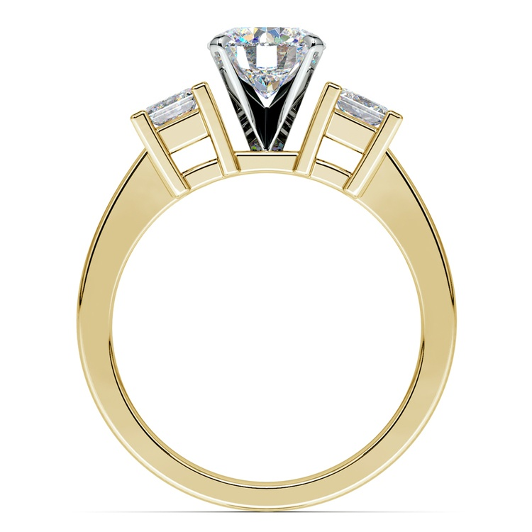 Princess Diamond Engagement Ring in Yellow Gold (1/3 ctw) | 02