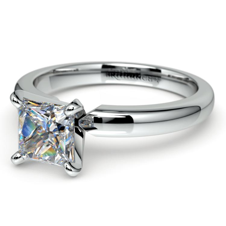 Princess Diamond Preset Engagement Ring in Platinum (1/2 ctw)   01