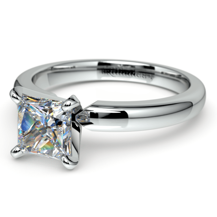 Princess Diamond Preset Engagement Ring in Platinum (1/4 ctw) | 01