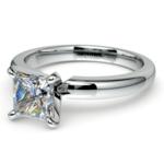 Princess Diamond Preset Engagement Ring in White Gold (1/3 ctw) | Thumbnail 01