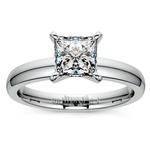 Princess Diamond Preset Engagement Ring in White Gold (1/3 ctw) | Thumbnail 02