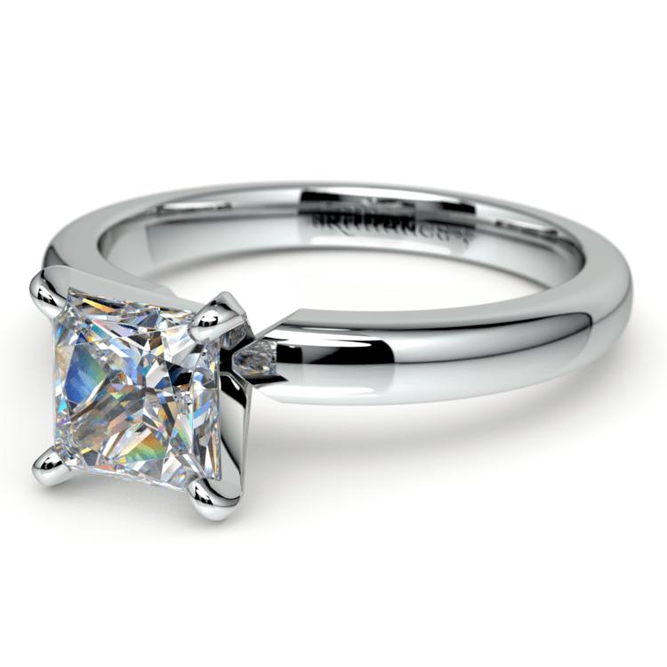 Princess Diamond Preset Engagement Ring in White Gold (1/3 ctw) | 01