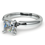 Princess Diamond Preset Engagement Ring in White Gold (1/4 ctw) | Thumbnail 01