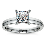 Princess Diamond Preset Engagement Ring in White Gold (1/4 ctw) | Thumbnail 02