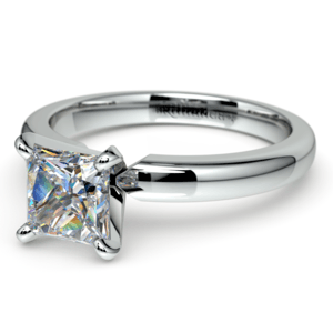 Princess Diamond Preset Engagement Ring in White Gold (1/4 ctw)